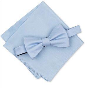 Alfani Mens Satin Pocket Square Bow Tie